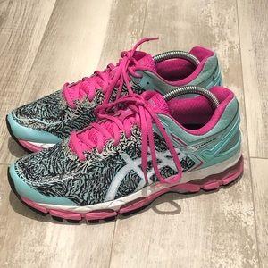 Asics Gel-Kayano 22 Aqua splash running shoe
